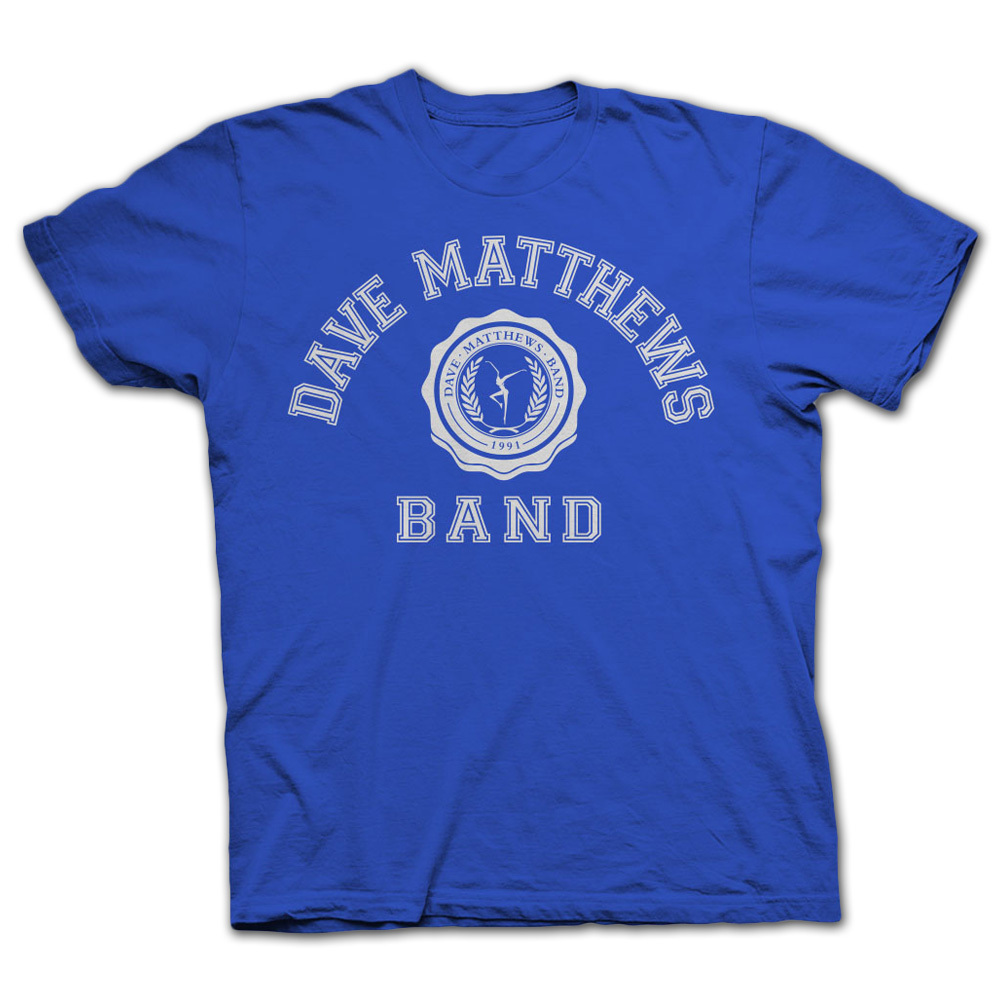 DMB 2014 Collegiate Tee Royal Blue/White