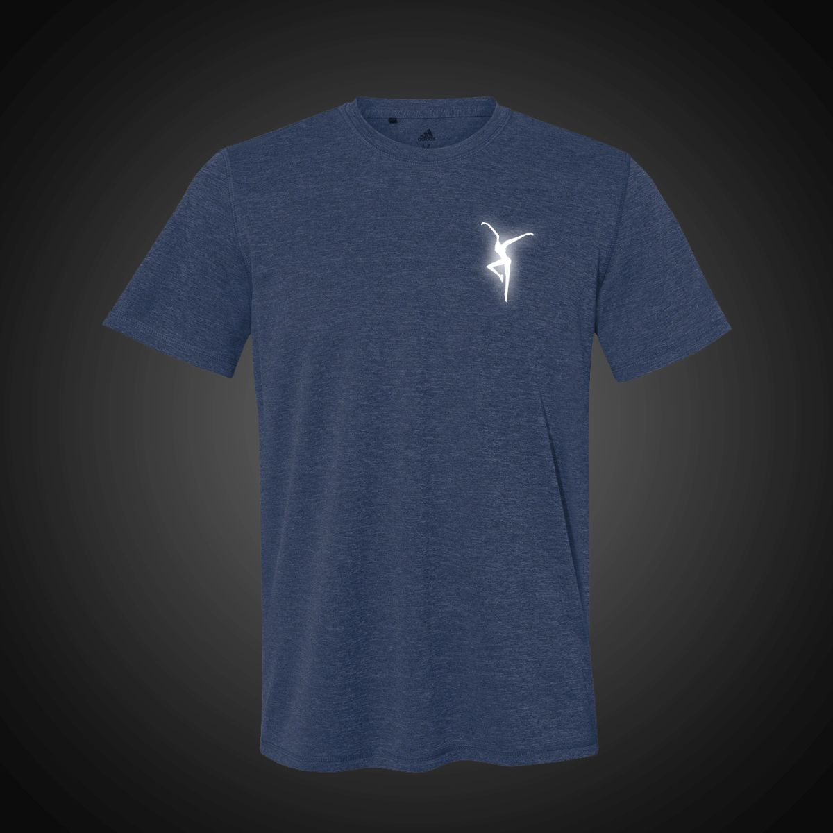 Reflective Firedancer Adidas Sport Shirt - Blue