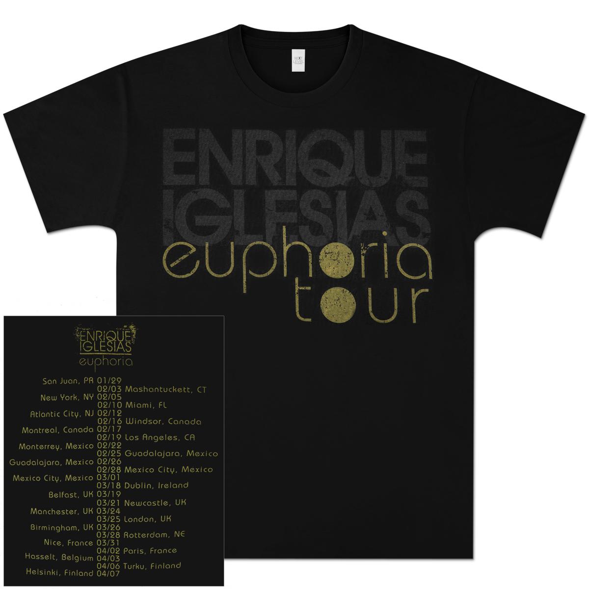 Enrique Iglesias 2011 Euphoria Tour T-Shirt