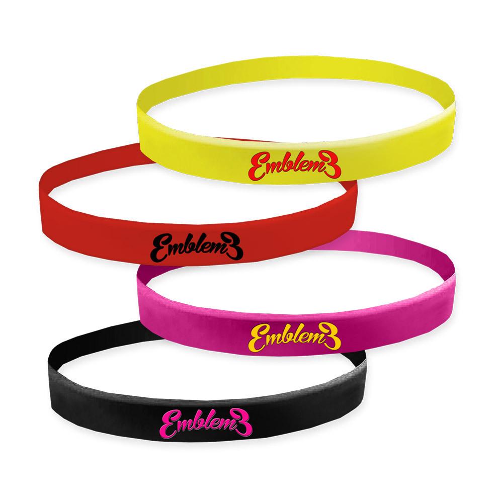 Emblem3 Script Logo Wristbands