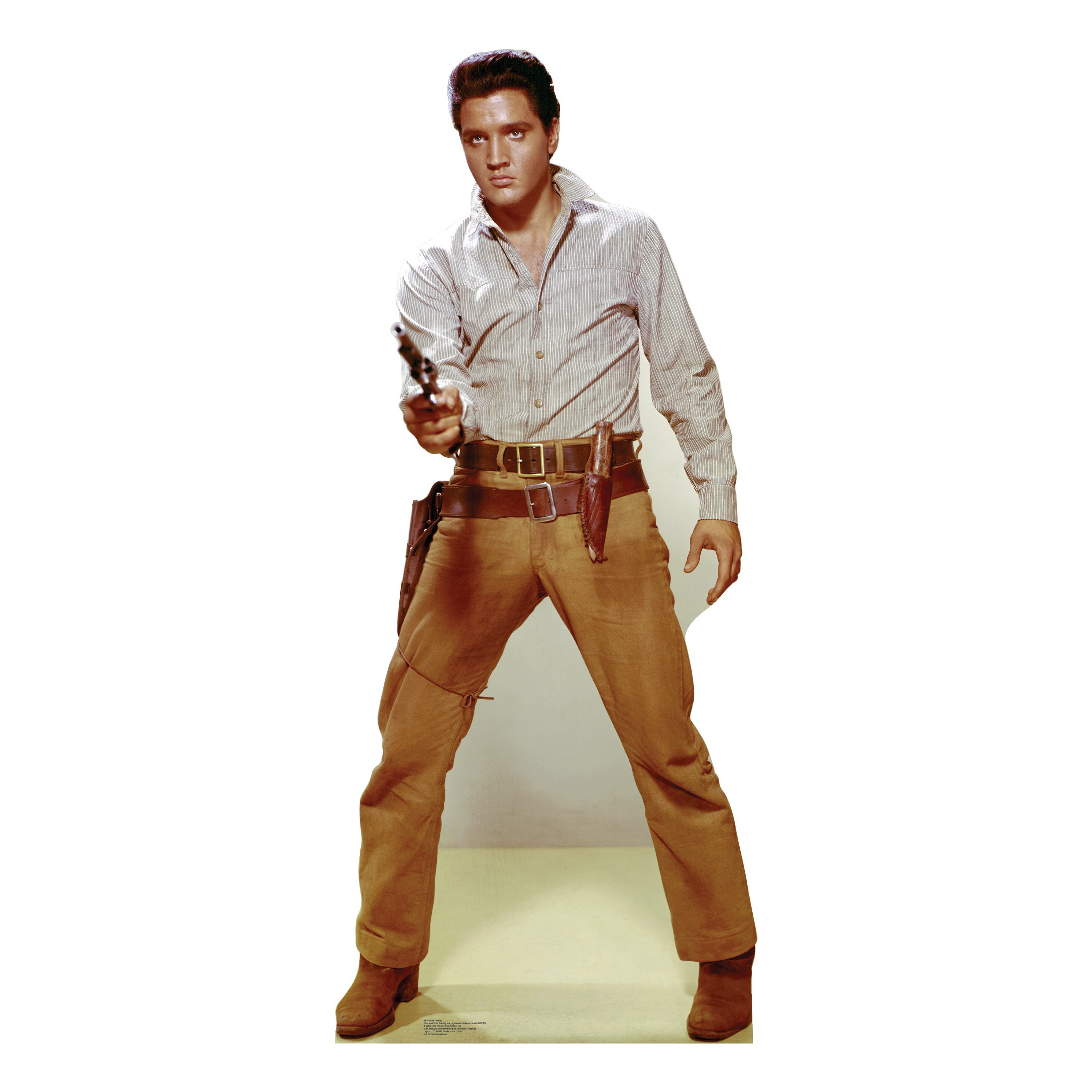 Elvis Flaming Star Gunfighter Lifesize Talking Stand Up