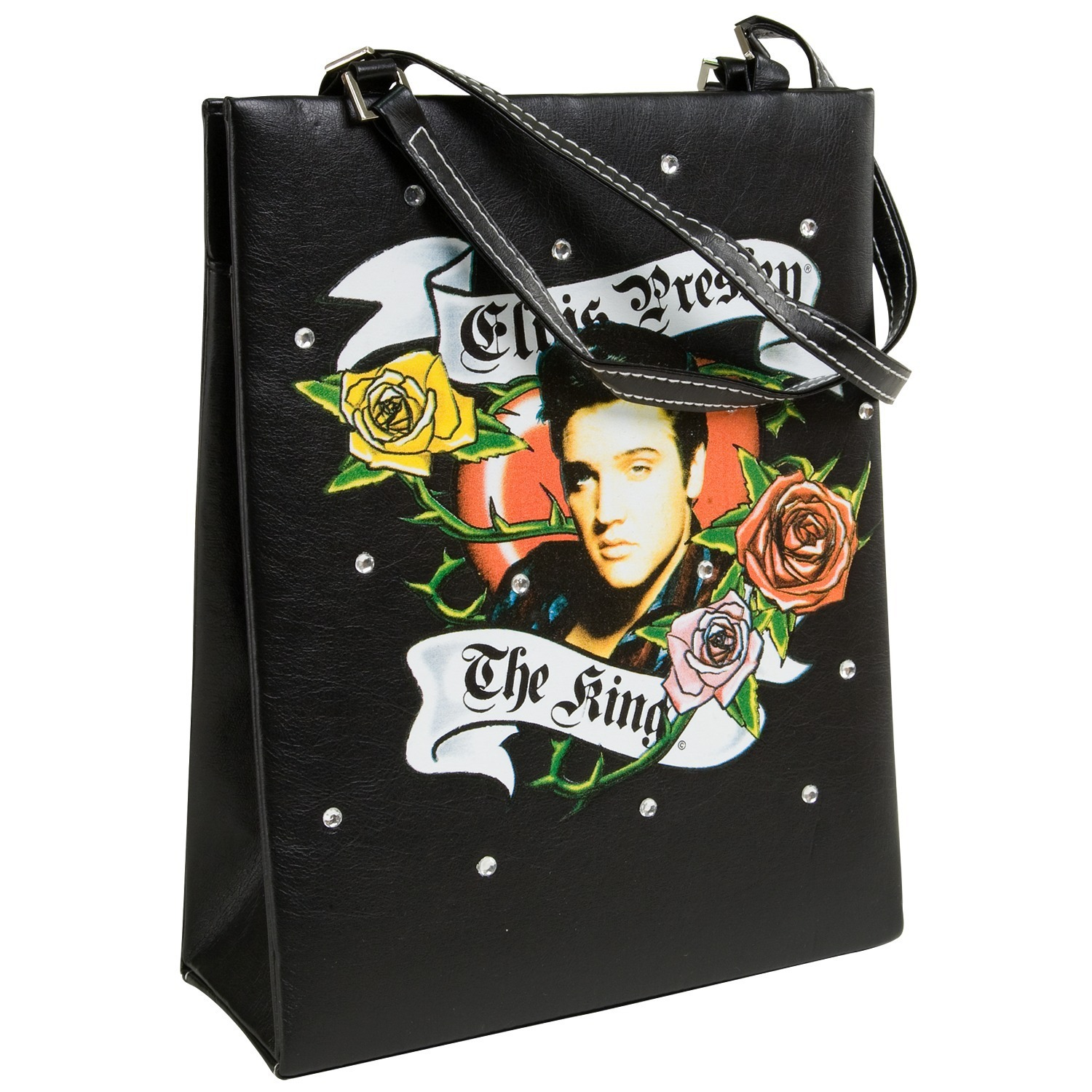 Elvis Tattoo Roses Handbag