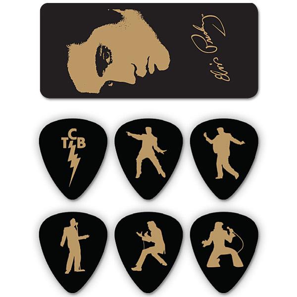 Elvis Silhouette Guitar Picks & Tin