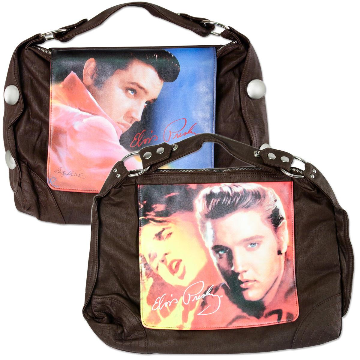 Elvis Brown Stare Hobo Bag