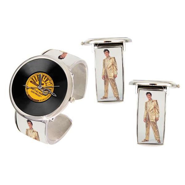 Elvis Golden Sun Bangle Watch