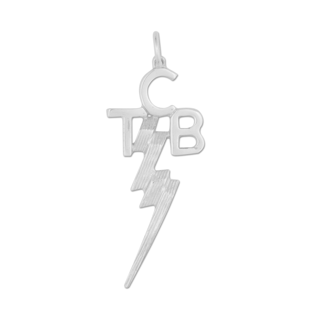 Elvis TCB Sterling Silver Charm