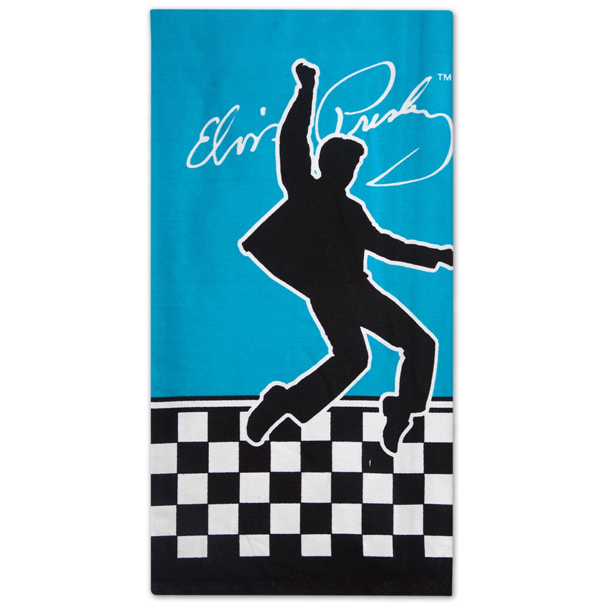 Elvis Checkered Hand Towel