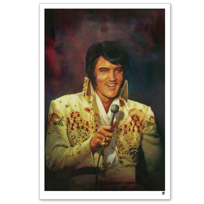 """Elvis Jumpsuit 20x30"""" Giclée Print on Canvas"""