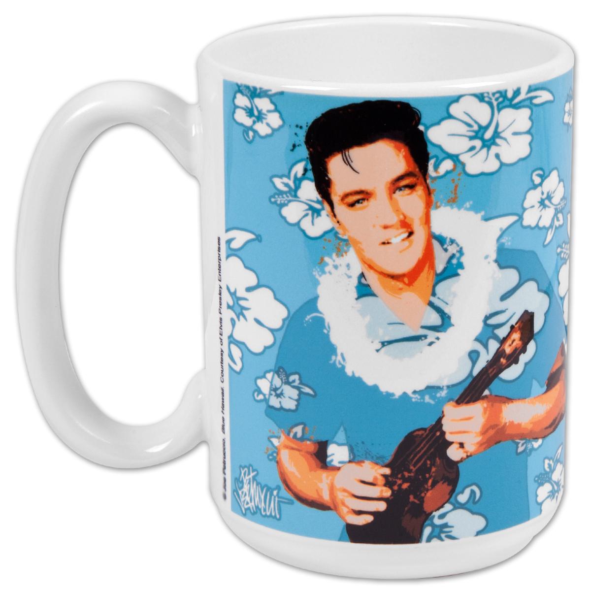 Elvis Blue Hawaii 15oz Mug