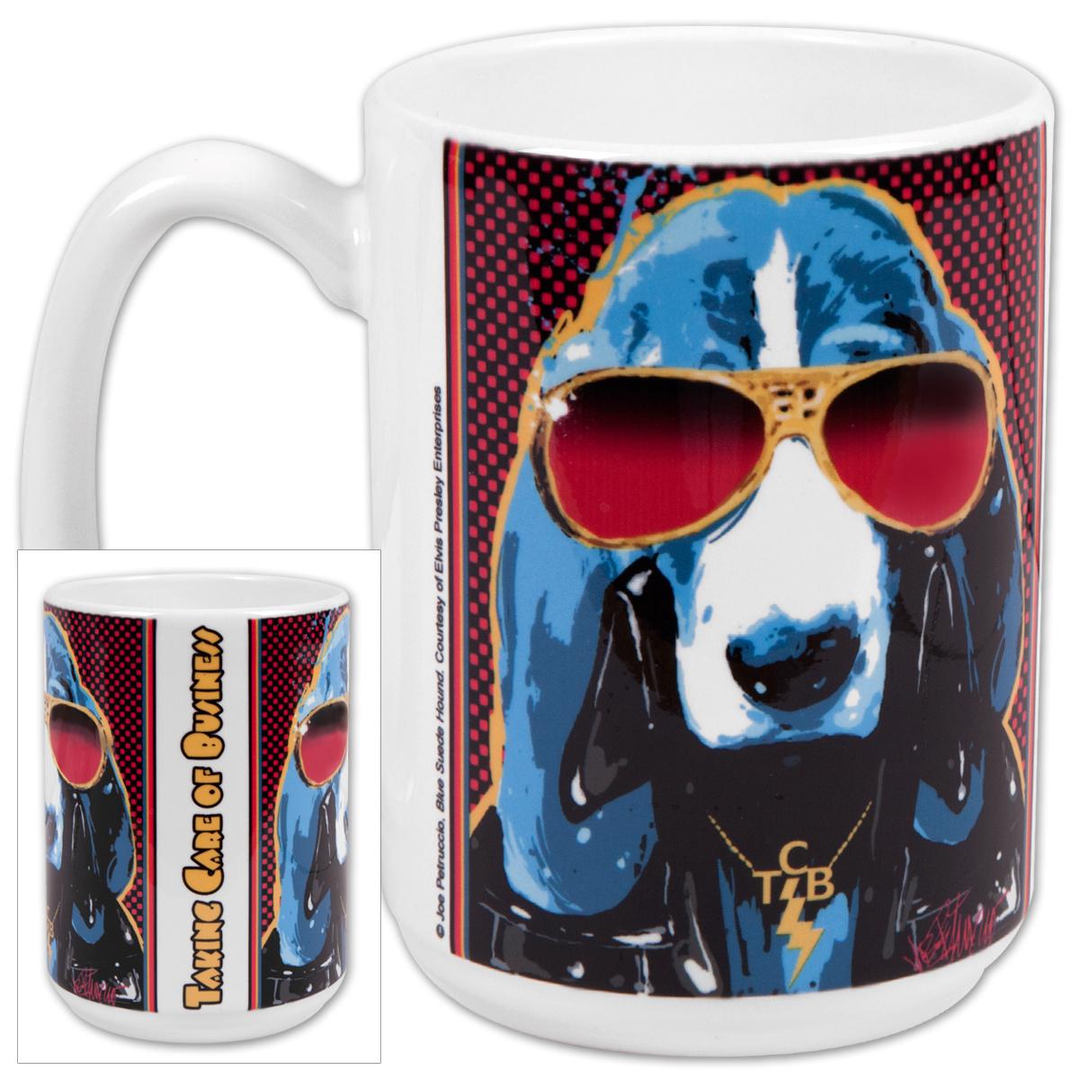 Elvis TCB Hound 15oz Mug