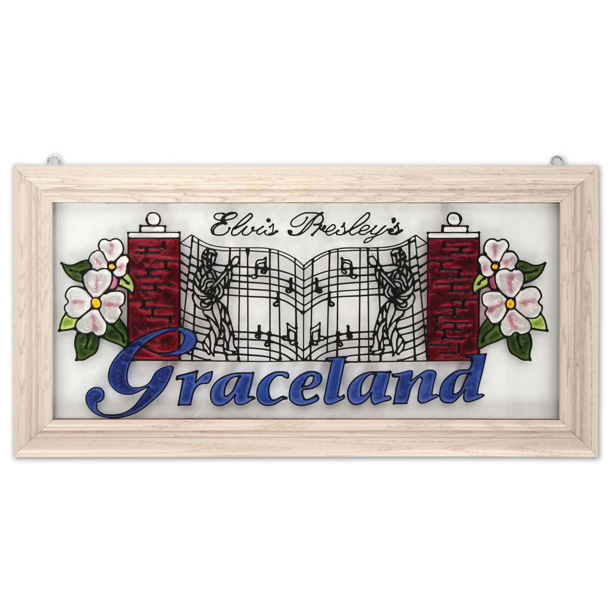 Elvis Gates of Graceland Stained Glass