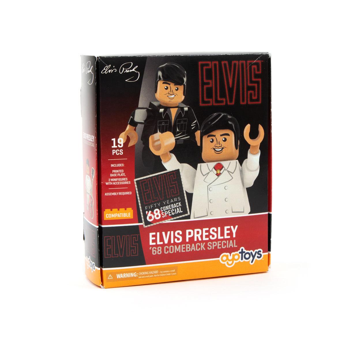 Elvis Presley 68 Comeback Minifigure 2pk