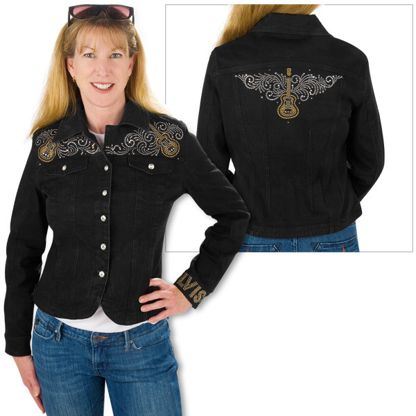 Elvis Guitar Scroll Ladies Jacket