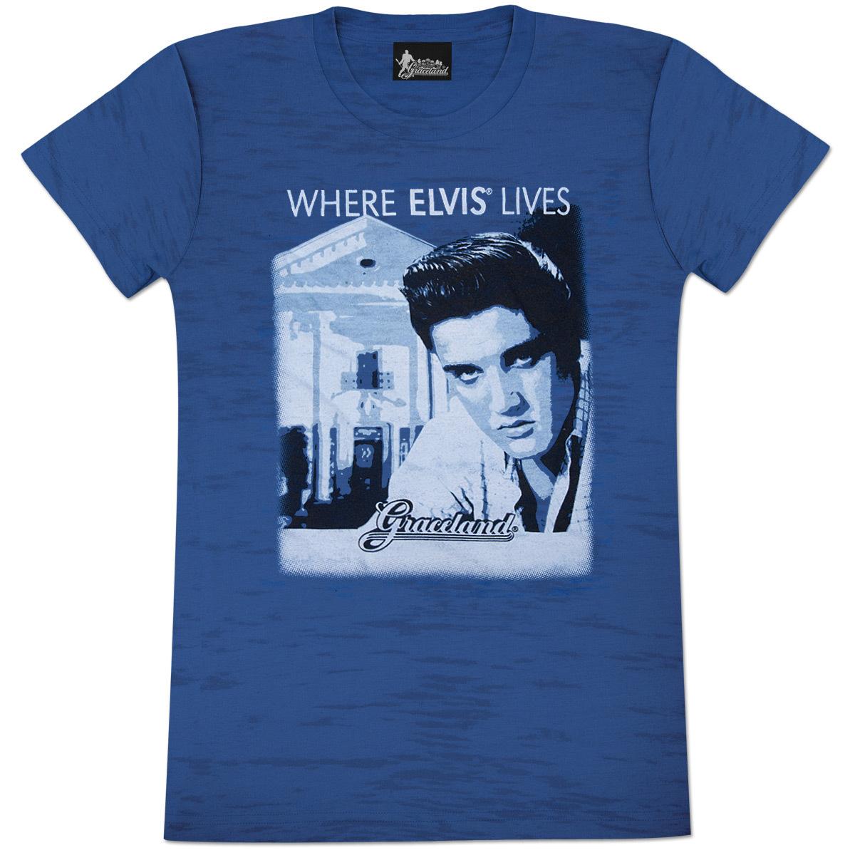 Elvis Graceland Burnout Ladies T Shirt Musictoday Superstore