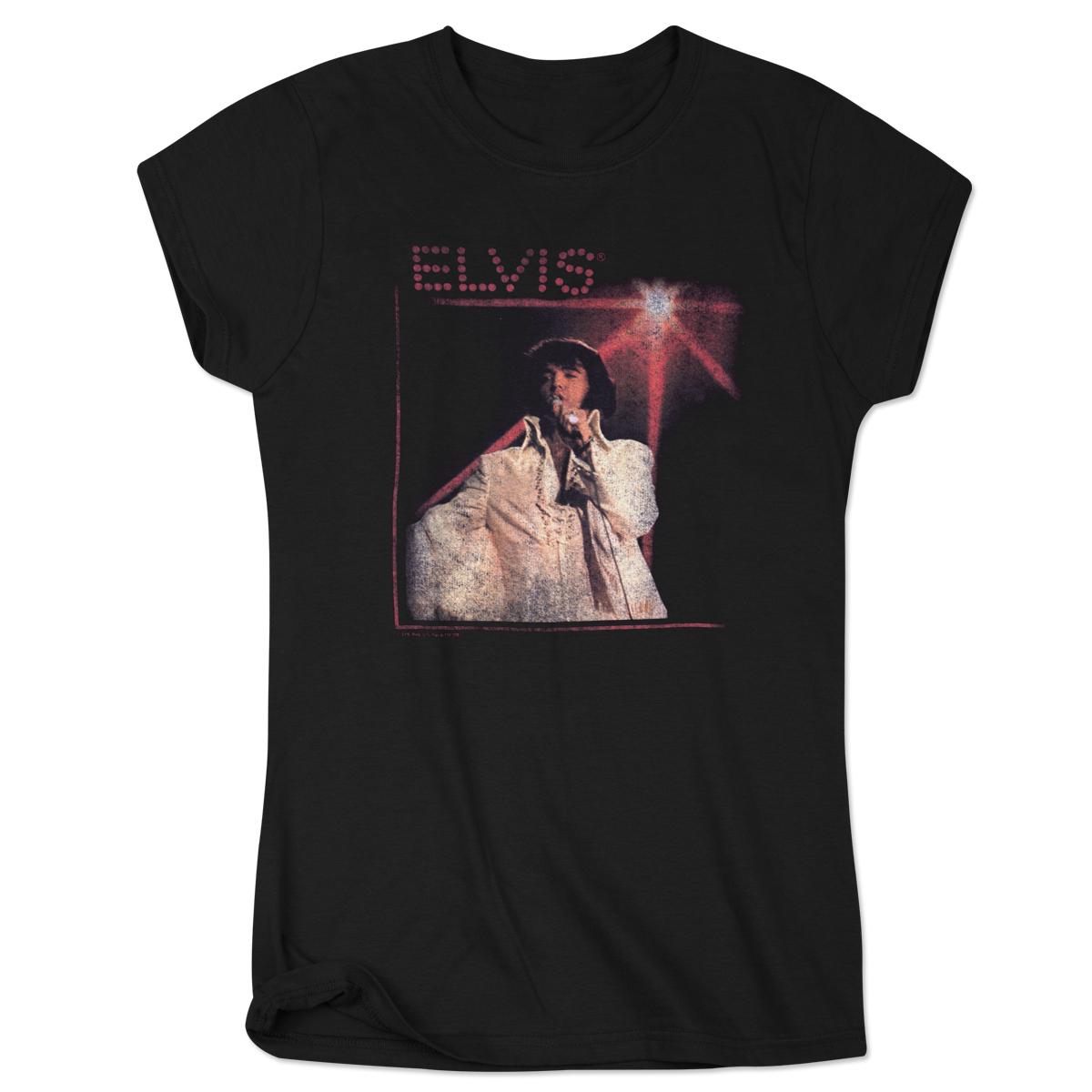 Elvis Jumpsuit Spotlight Ladies T-Shirt