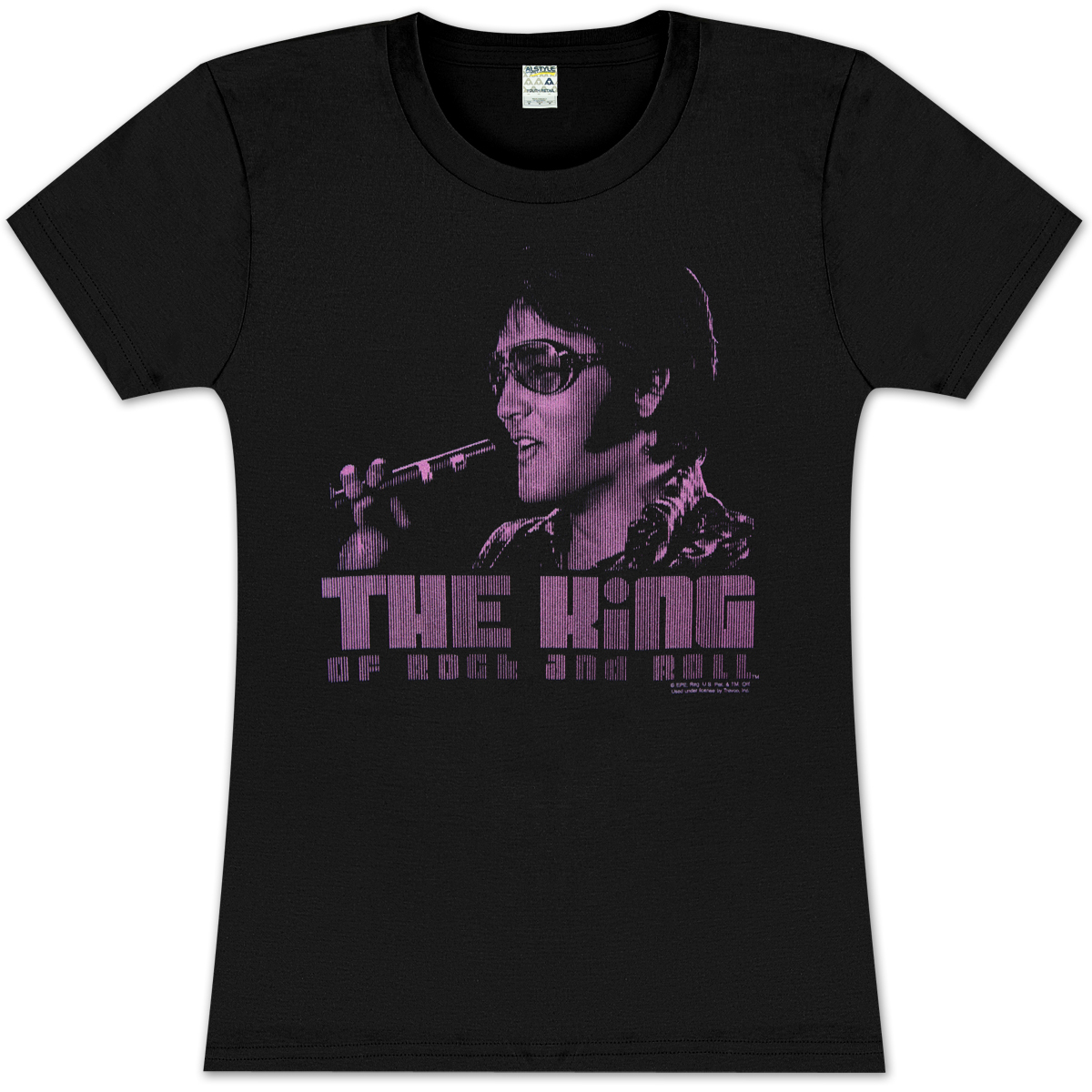 Elvis The King Ladies T Shirt Musictoday Superstore