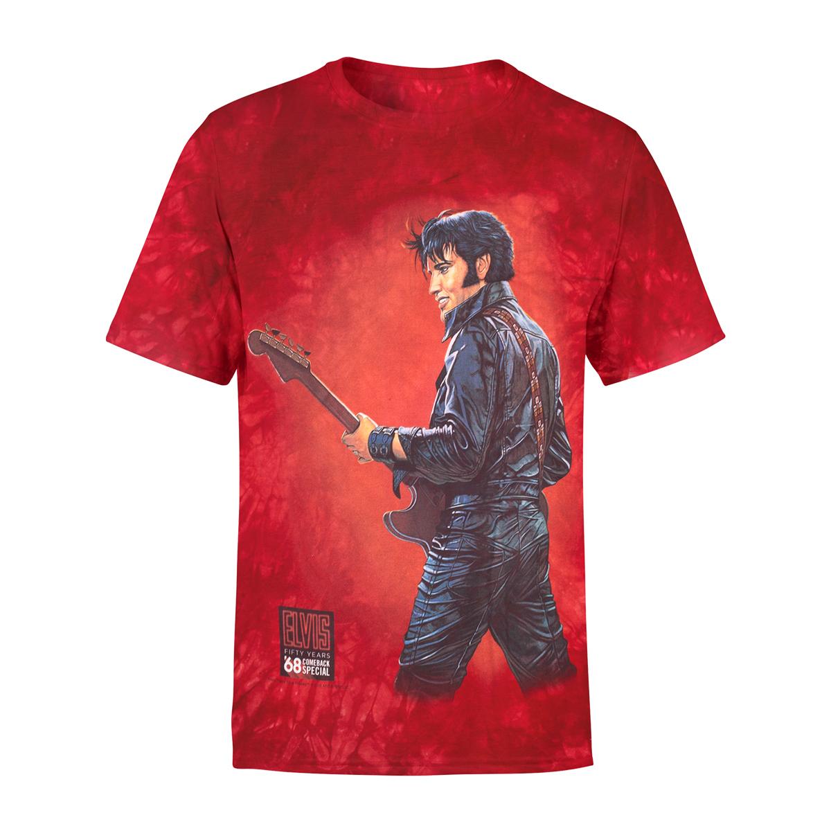 Elvis - '68 Comeback Special Red Guitar T-shirt