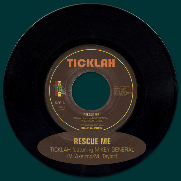 "Ticklah featuring Mikey General - Rescue Me 7"" Vinyl Single"