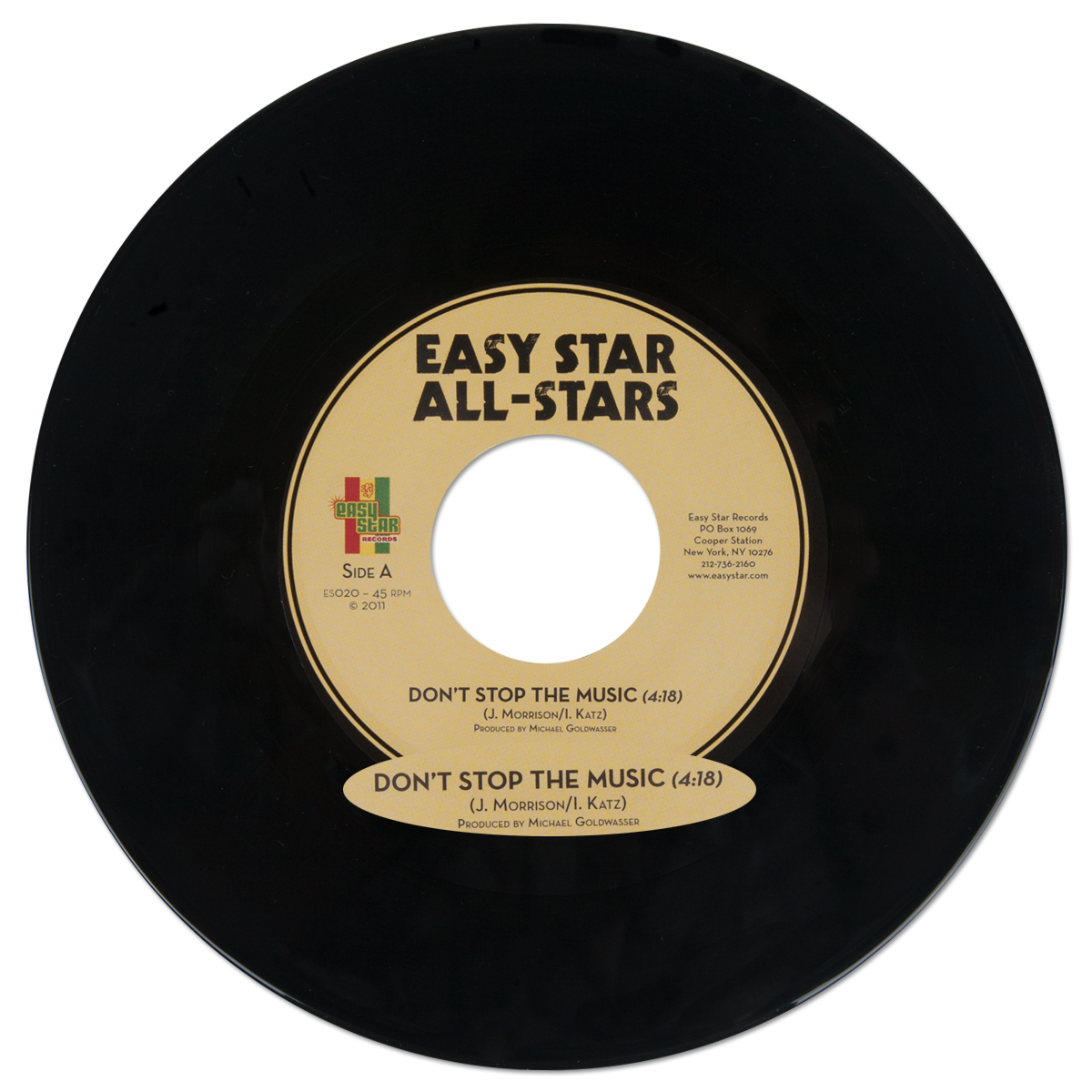 "Easy Star All-Stars - ""Don't Stop The Music"" 7"" Single"