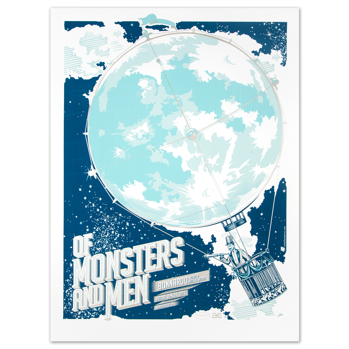 Of Monsters and Men Bonnaroo 2013 Poster by The Half and Half