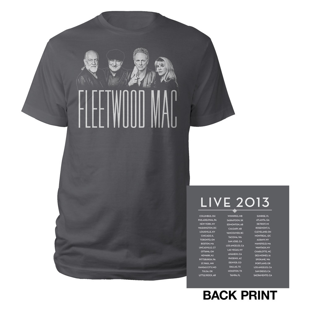 Official Fleetwood Mac Live North American Tour Tee