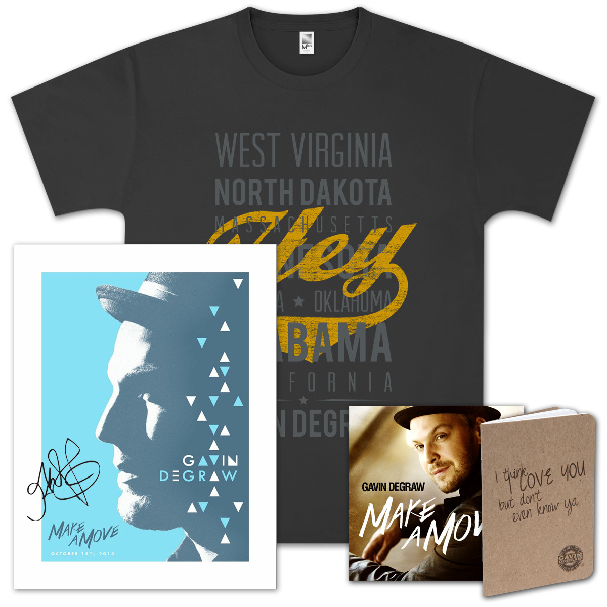 Gavin DeGraw - Make A Move Unisex Deluxe Package (Signed)