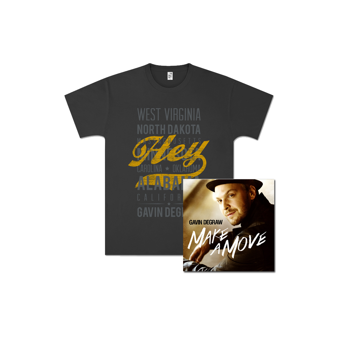 Gavin DeGraw - Make A Move Unisex T-Shirt Package
