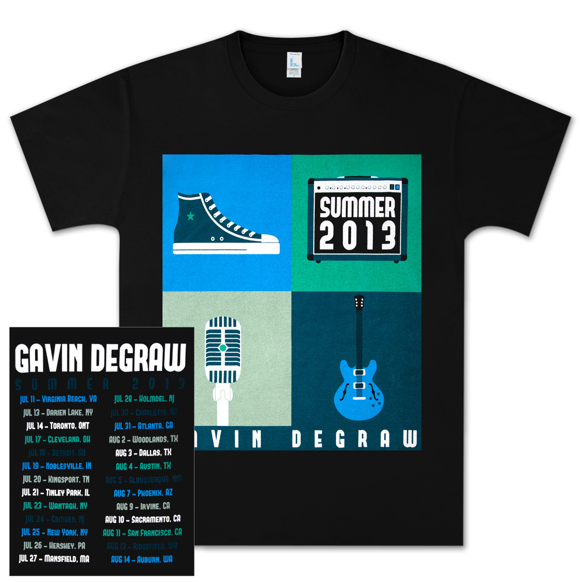 Gavin DeGraw - Summer 2013 Tour T-Shirt