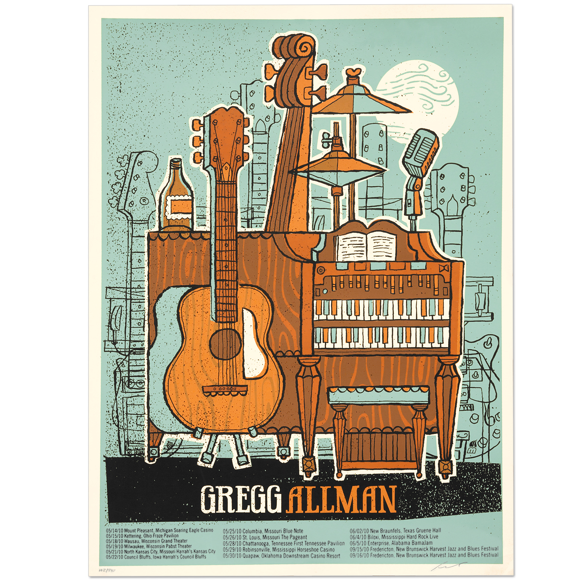 Gregg Allman 2010 Tour Poster