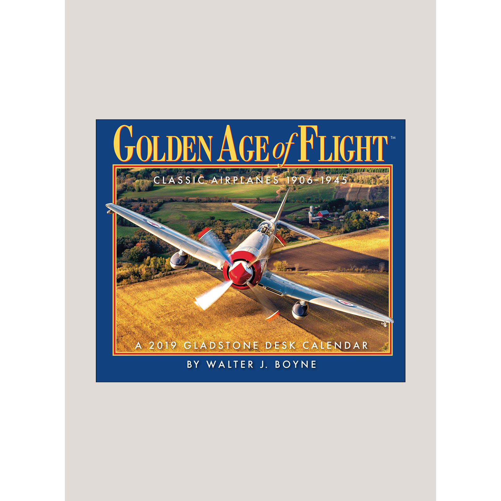 "2019 Golden Age of Flight 5.25"" x 4.25"" PAGE PER DAY CALENDAR"