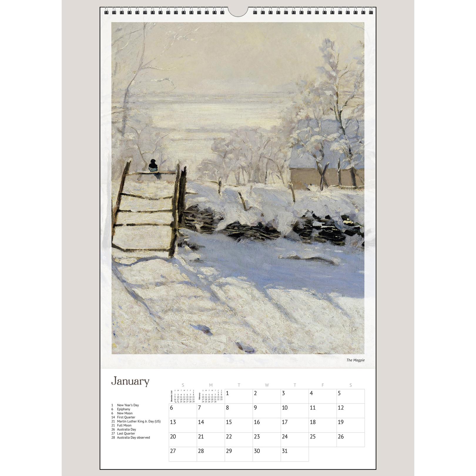 "2019 Monet 12"" x 20"" BIG PICTURE™ CALENDAR"