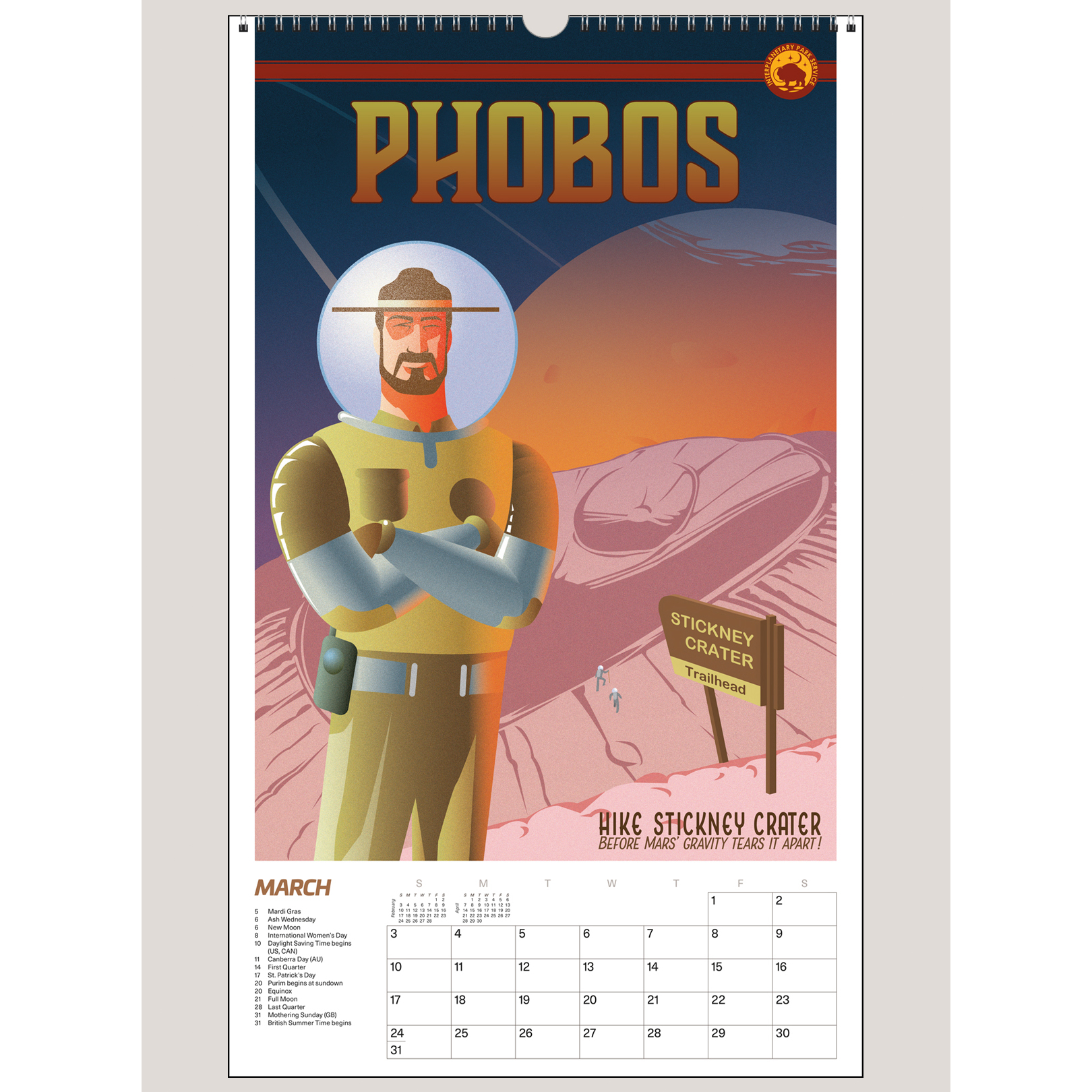 "2019 Space Vacation: Galactic Travel Posters 12"" x 20"" BIG PICTURE™ CALENDAR"