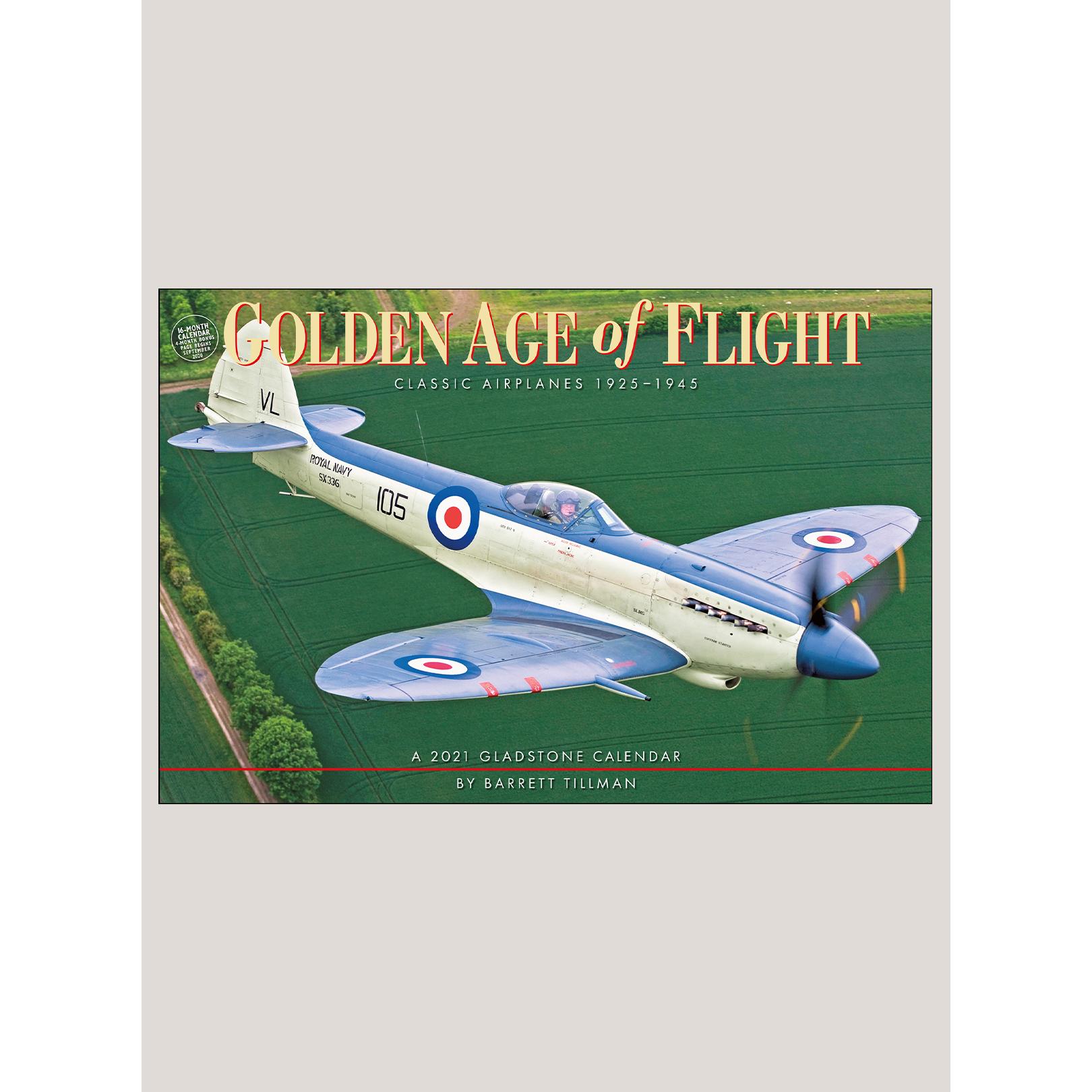 "2021 Golden Age of Flight 18"" x 12"" DELUXE WALL CALENDAR"