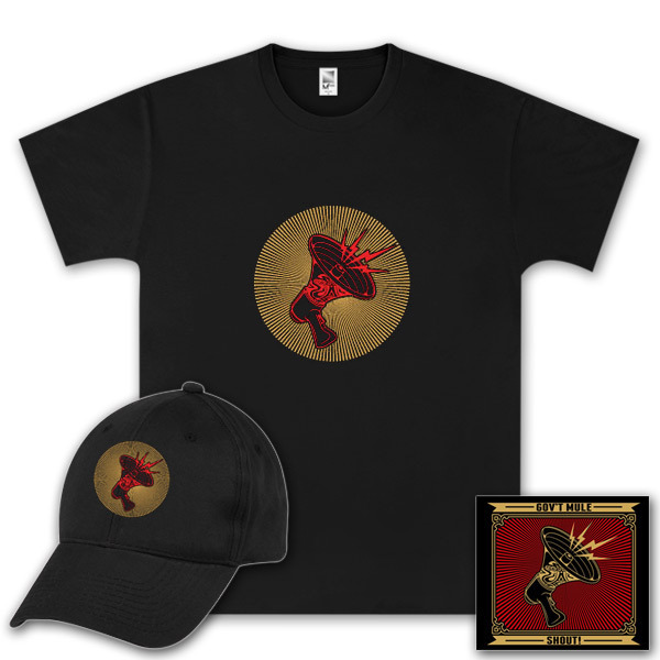 Gov't Mule Shout! CD, T-Shirt and Hat Bundle