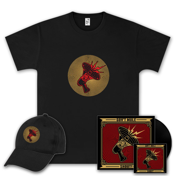Gov't Mule Shout! Vinyl LP, Digital Download, T-Shirt and Hat Bundle