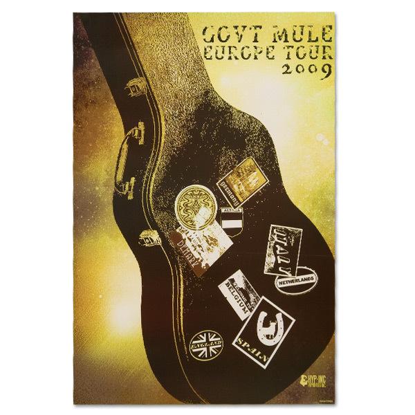 Gov't Mule 2009 European Tour Poster