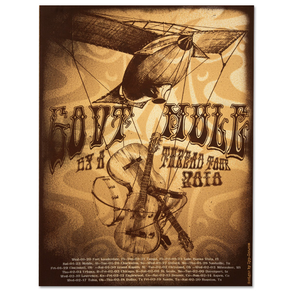 "Gov't Mule 2010 ""By A Thread"" Winter Tour Poster"