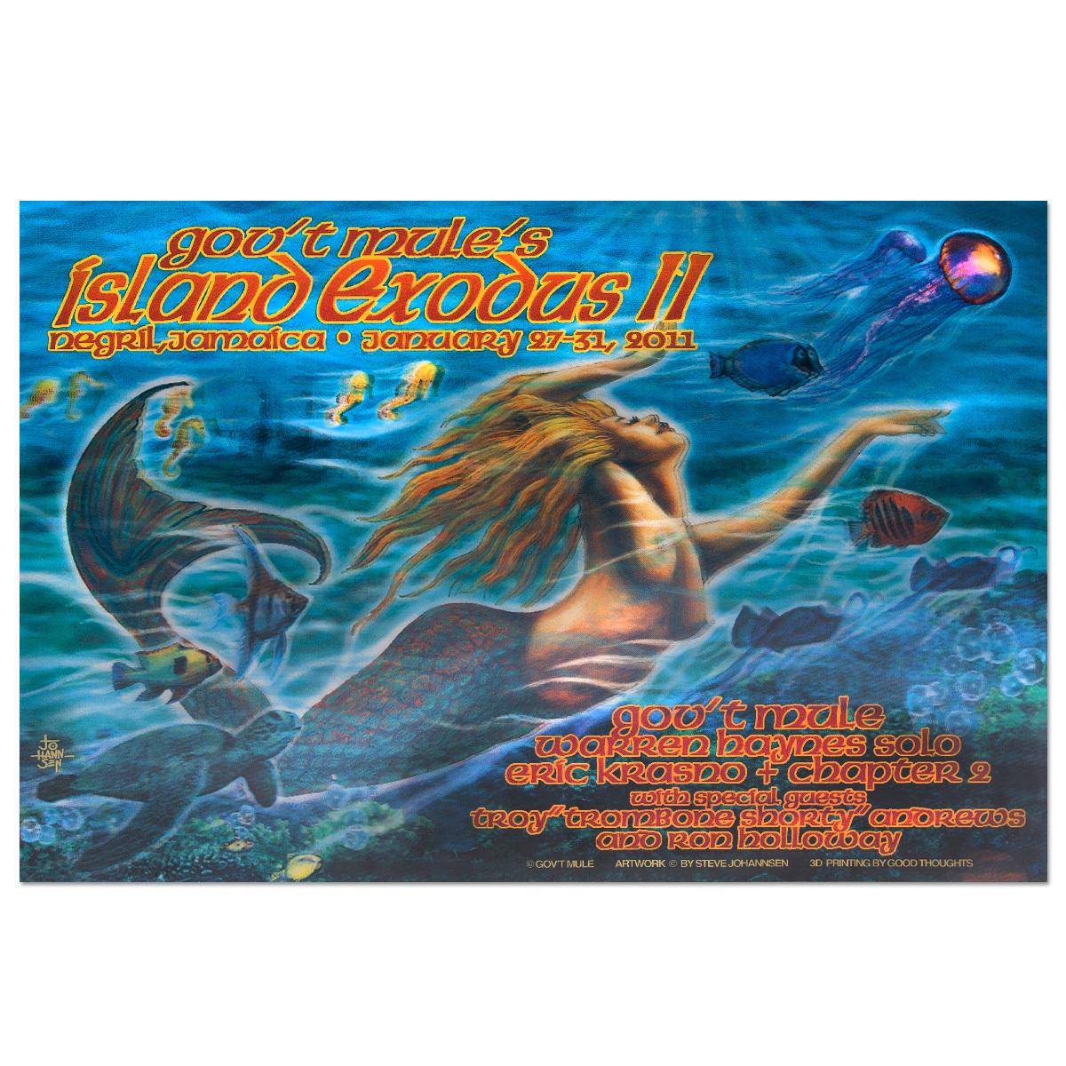 Gov't Mule Island Exodus II (2011) Event Poster