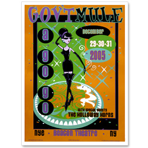 Gov't Mule 2005 New Year's Run Beacon Theatre Event Poster