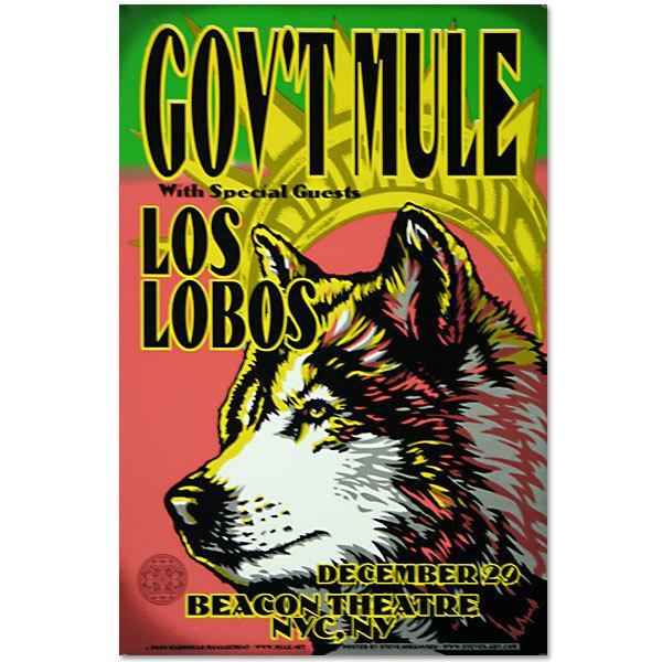 Gov't Mule Dec 29 2006 Wolf Poster