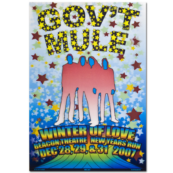 Gov't Mule 2007 New Year's Run Magical Mystrippy Beacon Poster