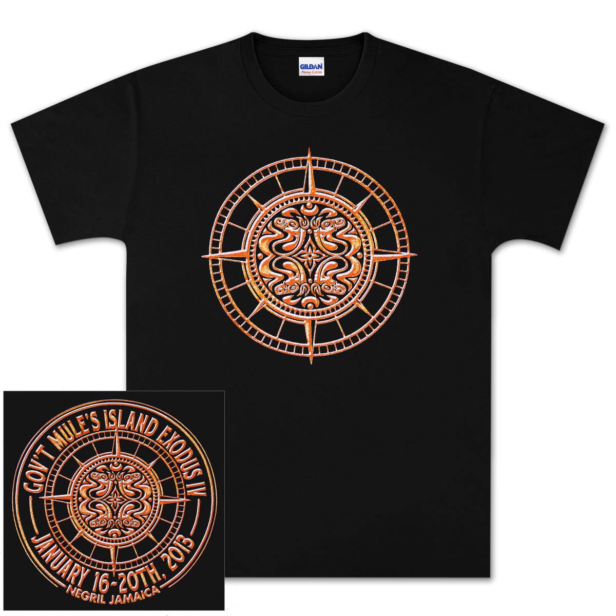 Gov't Mule Island Exodus 2013 IV Black T-Shirt