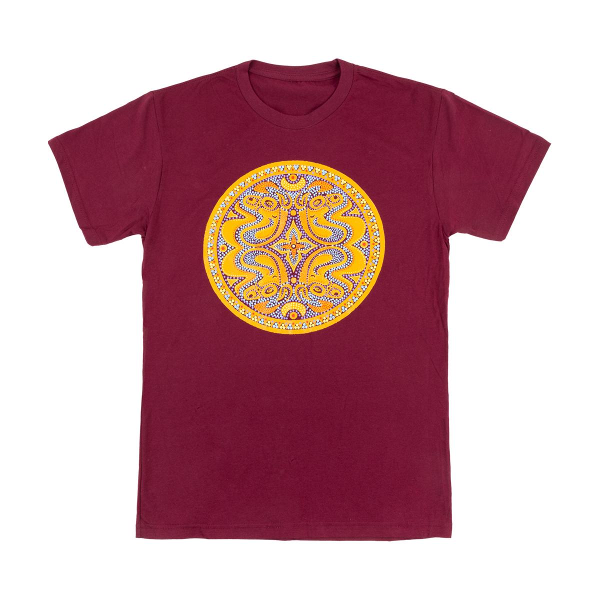 Maroon Beaded Dose Logo T-Shirt