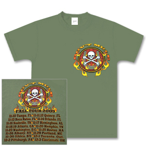 Gov't Mule 2005 Fall Tour Skull & Crossbones T-Shirt