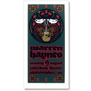 Warren Haynes 2004 Zellerbach Theater Philadelphia Event Poster