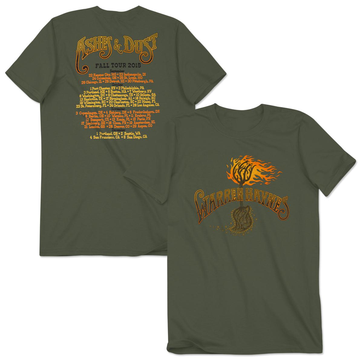 "Warren Haynes ""Ashes & Dust"" 2015 Fall Tour Shirt"