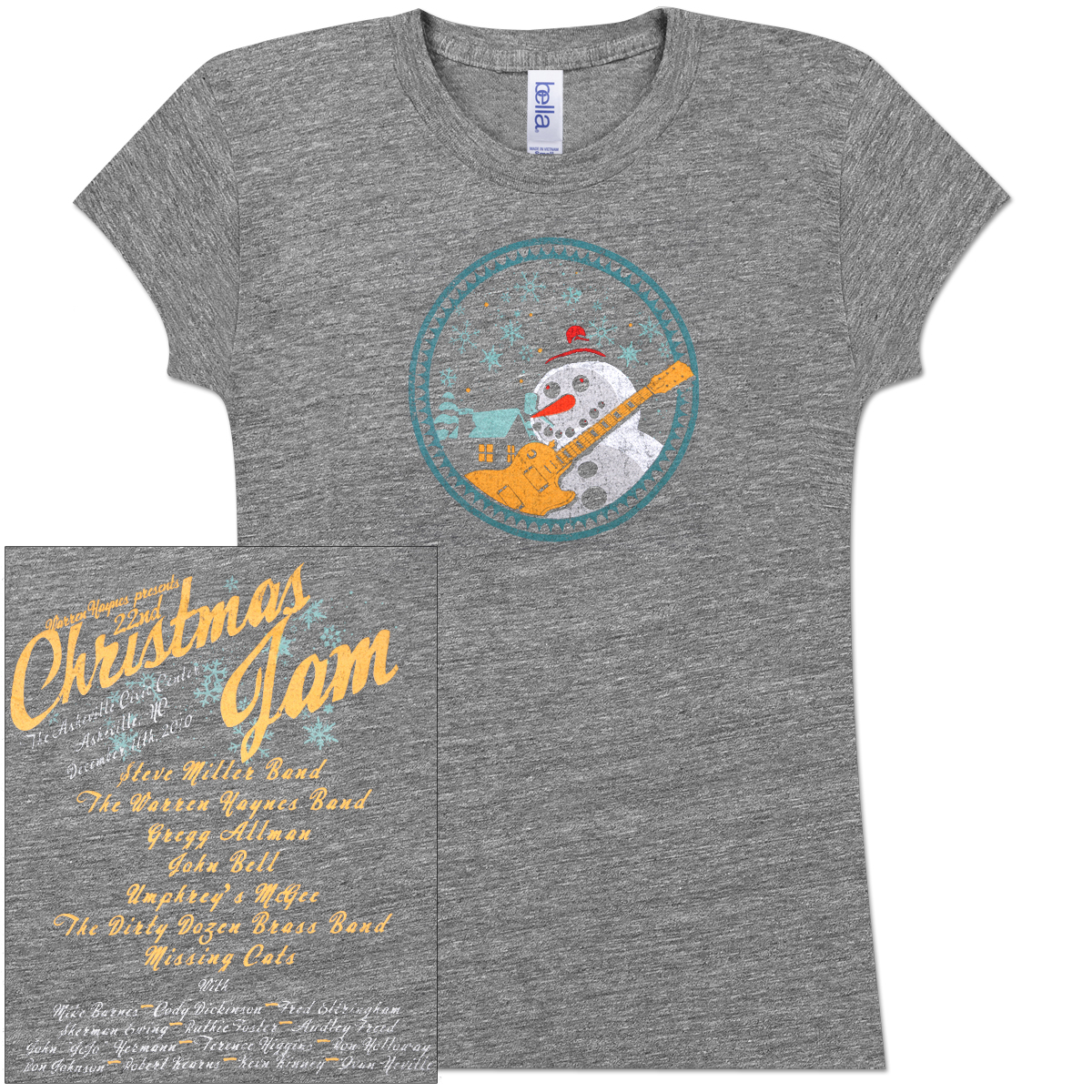Warren Haynes 2010 Xmas Jam Ladies T-Shirt
