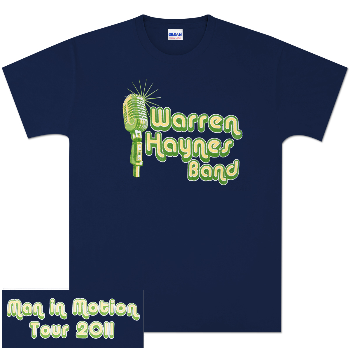 Warren Haynes Band Microphone Logo Tour T-Shirt