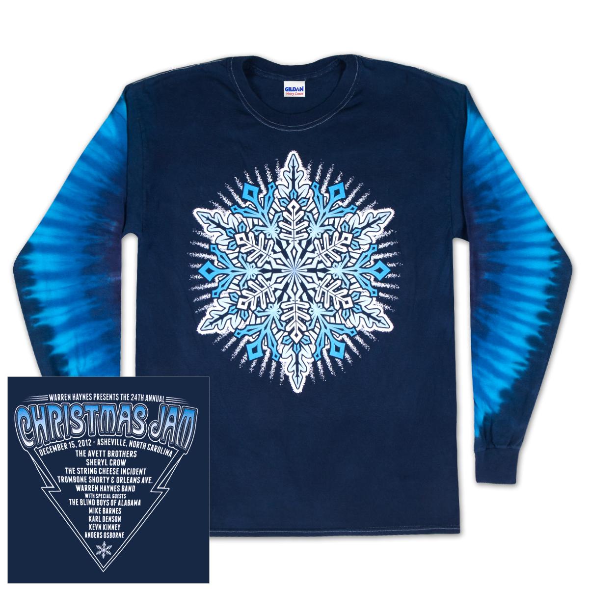 Warren Haynes 2012 Xmas Jam Long-Sleeve Pigment Dye Shirt.