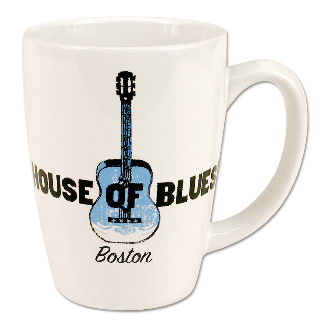 House of Blues White Guitar Mug - Boston